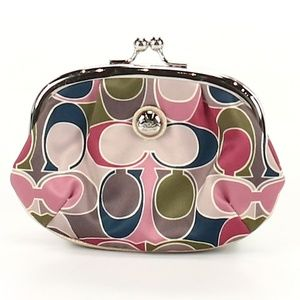 Coach C Kiss Lock Coin Purse